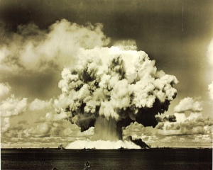 Atomic bomb test at Bikini Island